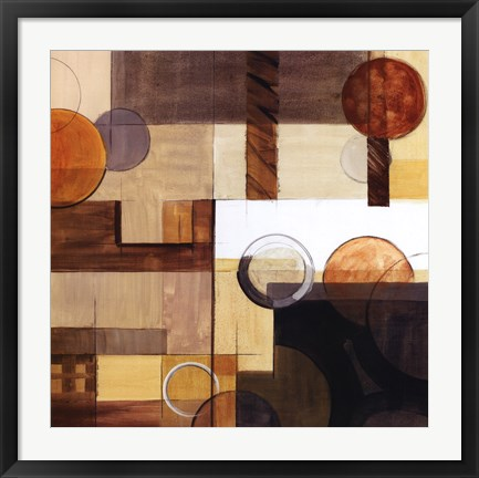 Framed Abstract With Circles II Print