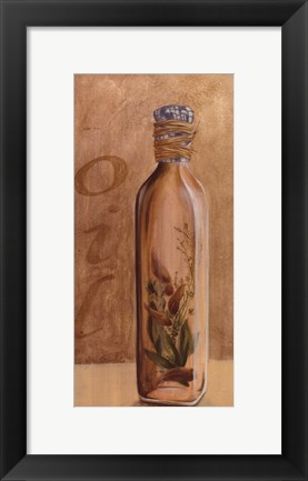 Framed Jar With Blue Cloth Cover Print