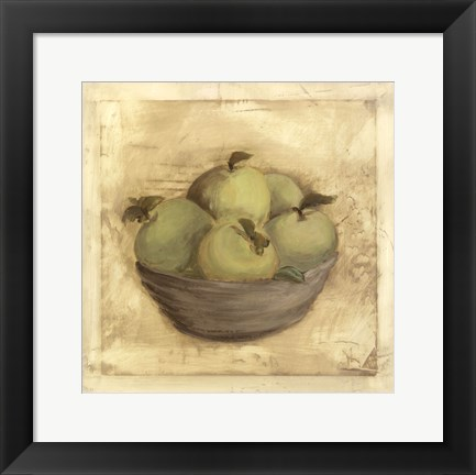 Framed Bowl Of Apples Print