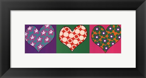 Framed Three Hearts Print