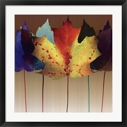 Framed Leaf Dance Print