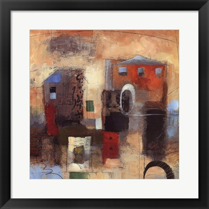 Framed City Houses IV Print
