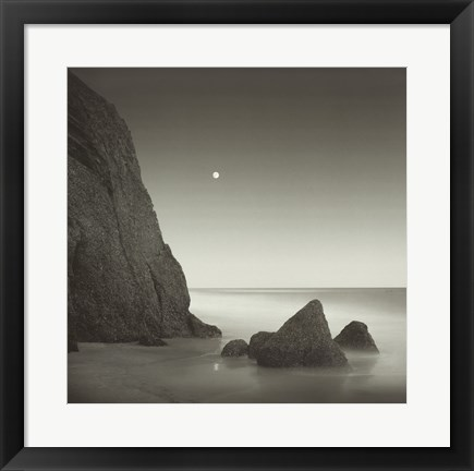 Framed Shark Tooth Cliff Print