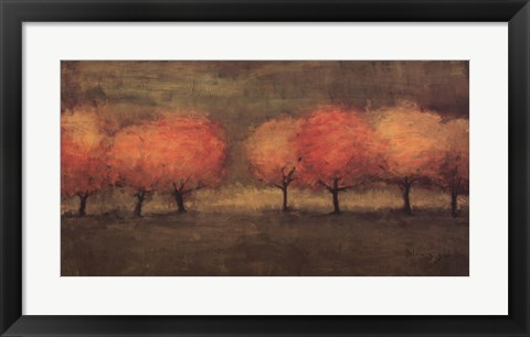 Framed Red Trees II Print