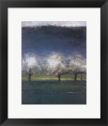 Framed Blossoming Trees Print