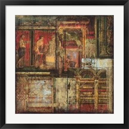 Framed Fragments Of Rome II Print