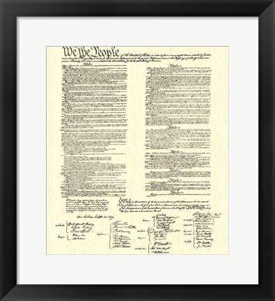 Framed Constitution (Document) Print