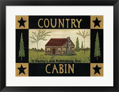 Framed Country Cabin Print