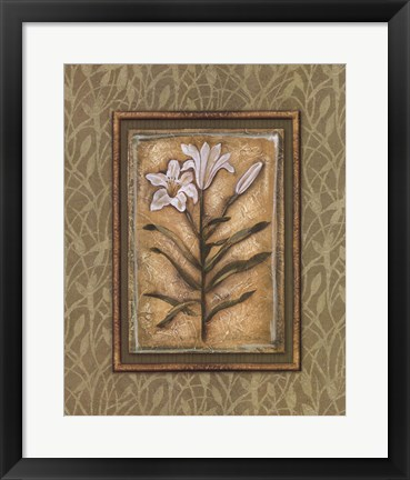 Framed Peaceful Flowers II Print