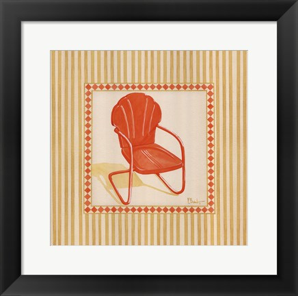 Framed Retro Patio Chair I Print