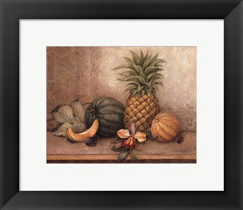 Framed Pineapple And Orchid - Mini Print