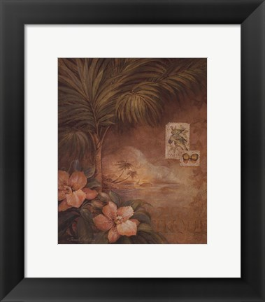 Framed West Indies Sunset I - Mini Print