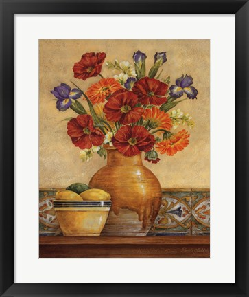 Framed Salsa Poppies Print