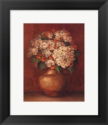 Framed Tuscan Hydrangeas - Mini Print