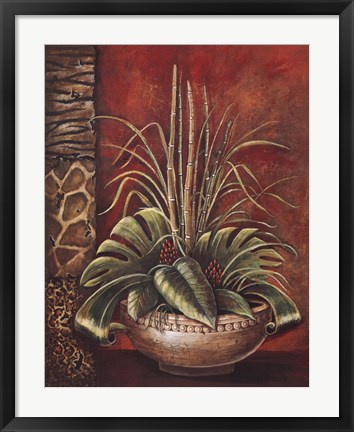 Framed Exotic Tropical I Print