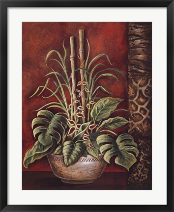 Framed Exotic Tropical II Print