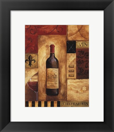 Framed Chateau Vin - Petite Print