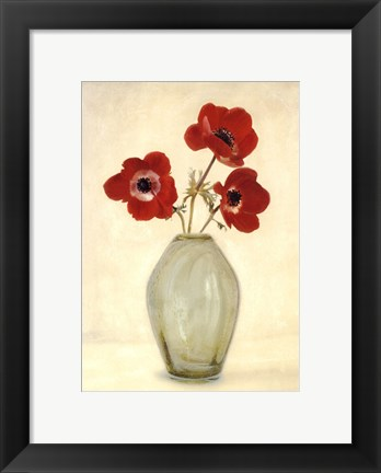 Framed Three Anemones - Special Print