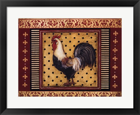 Framed Provence Rooster II Print