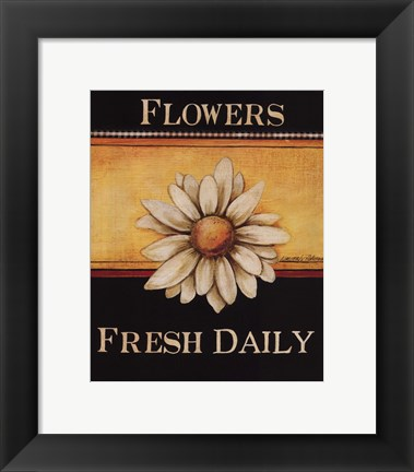 Framed Flowers Fresh Daily - Mini Print