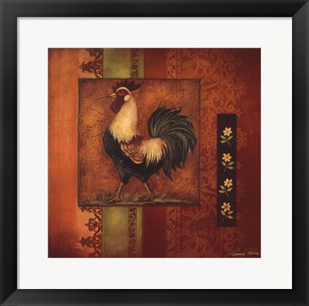 Framed Murano Rooster II Print