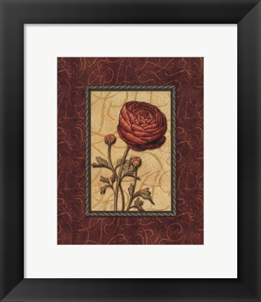 Framed Red Passion I - Mini Print