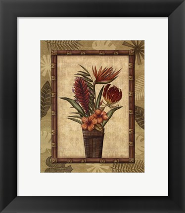 Framed Paradisio Bouquet II - Mini Print