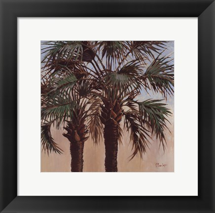 Framed Twin Palms - Mini Print