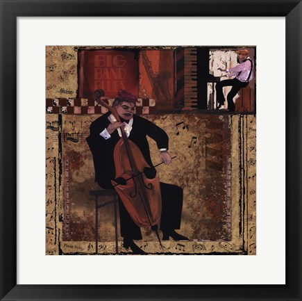Framed Jazz Cello - Mini Print