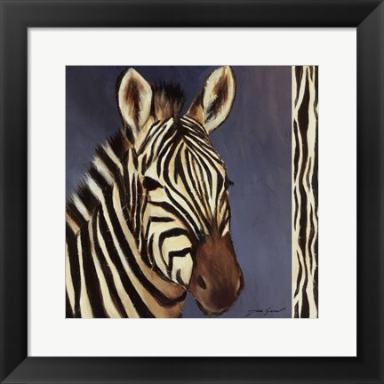 Framed Exotic Zebra - Mini Print