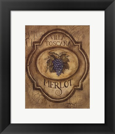 Framed Merlot - Mini Print
