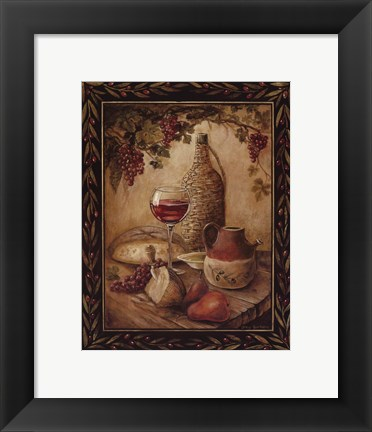 Framed Tuscan Table - Chianti - Mini Print