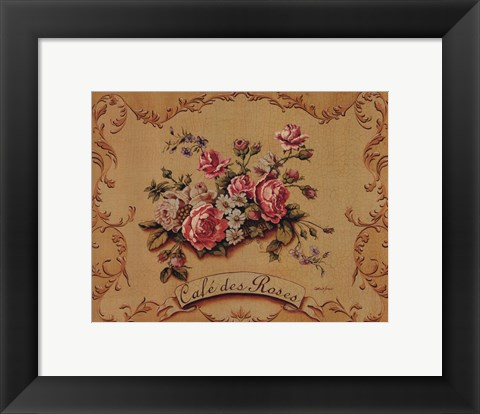Framed Cafe Des Roses - Mini Print