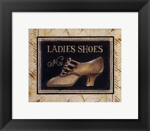 Framed Ladies Shoes No 24 - Mini Print