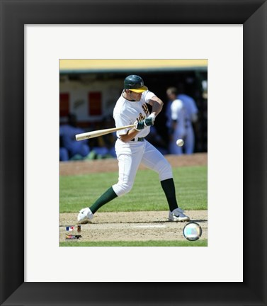 Framed Bobby Crosby - 2007 Batting  Action Print