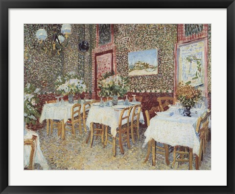 Framed Interior of a Restaurant, c.1888 Print