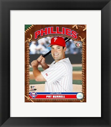 Framed Pat Burrell - 2007 Studio Plus Print