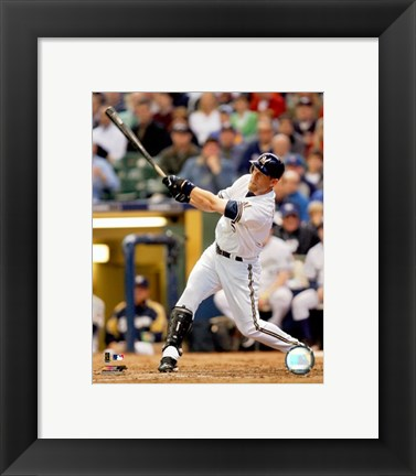 Framed Geoff Jenkins - 2007 Batting Action Print