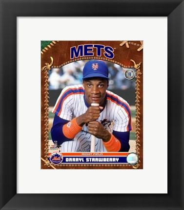 Framed Darryl Strawberry - 2007 Vintage Studio Plus Print