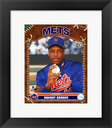 Framed Dwight Gooden - 2007 Vintage Studio Plus Print