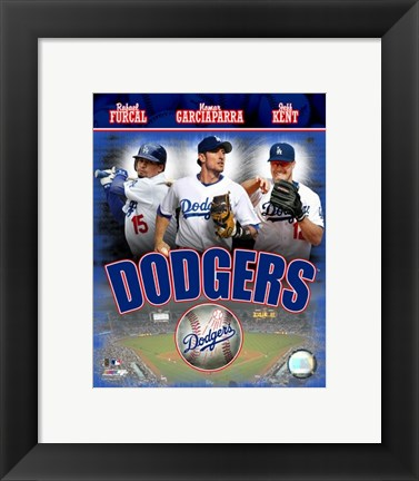 Framed 2007 - Dodgers Big 3 Hitters Composite Print