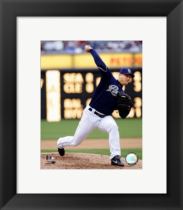 Framed Trevor Hoffman - 2007 Pitching Action Print