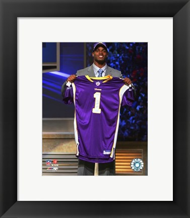 Framed Adrian Peterson - 2007 NFL Draft Day Print
