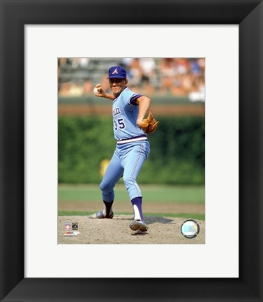 Framed Phil Niekro - Pitching Action Print