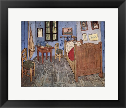 Framed Bedroom at Arles, c.1887 Print