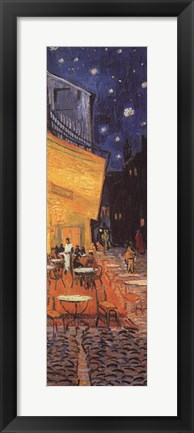 Framed Cafe Terrace on the Place du Forum, Arles, at Night, c.1888 (detail) Print