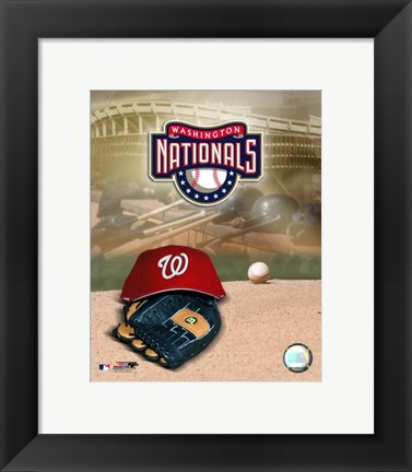 Framed 2007 - Nationals Logo Print