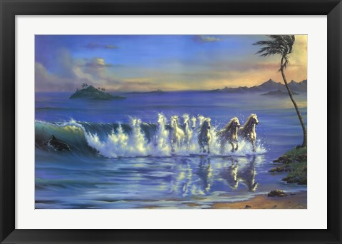 Framed Galloping Waves Print