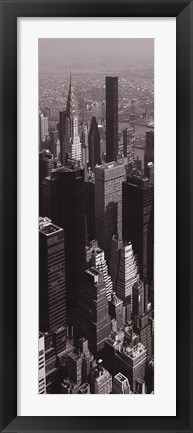 Framed Chrysler Building Arial View Print