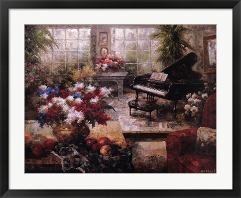 Framed Grand Piano Print